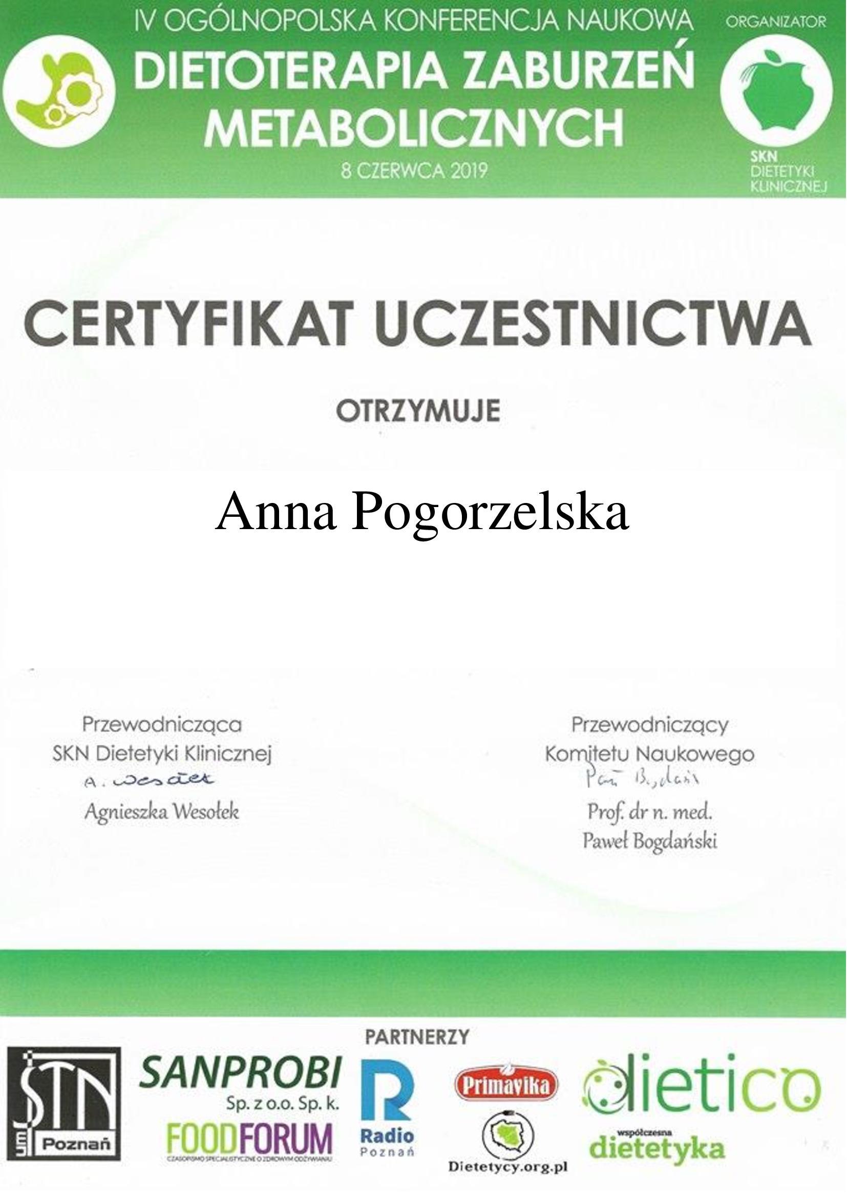 dietetyk Środa Wlkp. Anna Pogorzelska